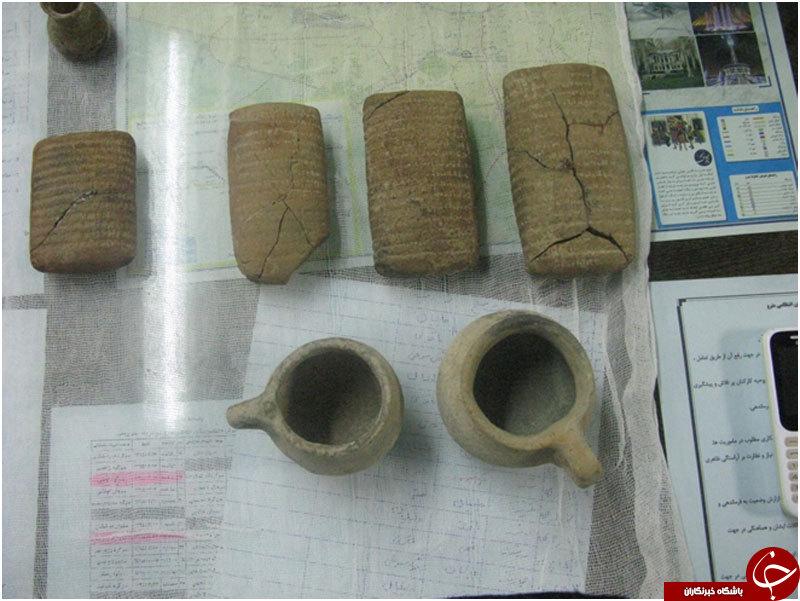 کشف آثار باستانی میلیاردی در ایستگاه مترو تهران +تصاویر