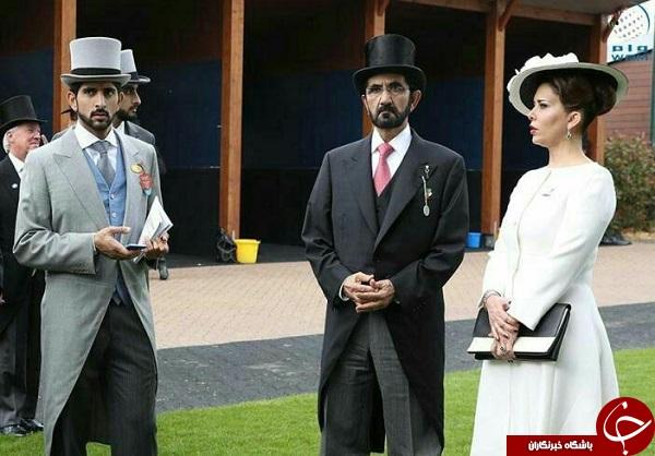 تصویر عجیب از حاکم دبی و همسرش +عکس