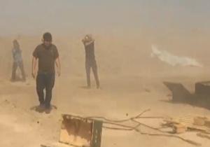 لحظه شلیک توپ علیه داعش توسط امیر نوری + فیلم