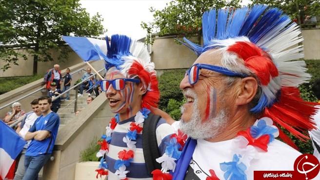 عکس های جذاب از هواداران فوتبال در یورو 2016