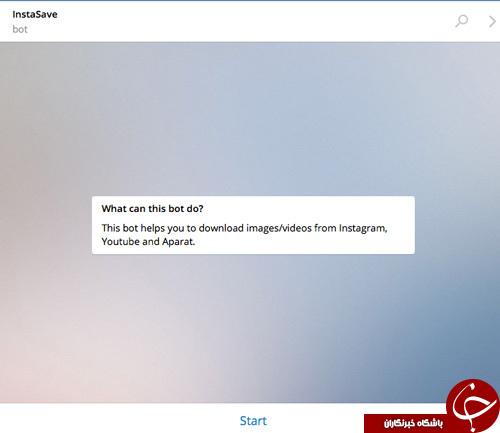 دانلود عکس ها و فیلم های اینستاگرام از تلگرام + آموزش