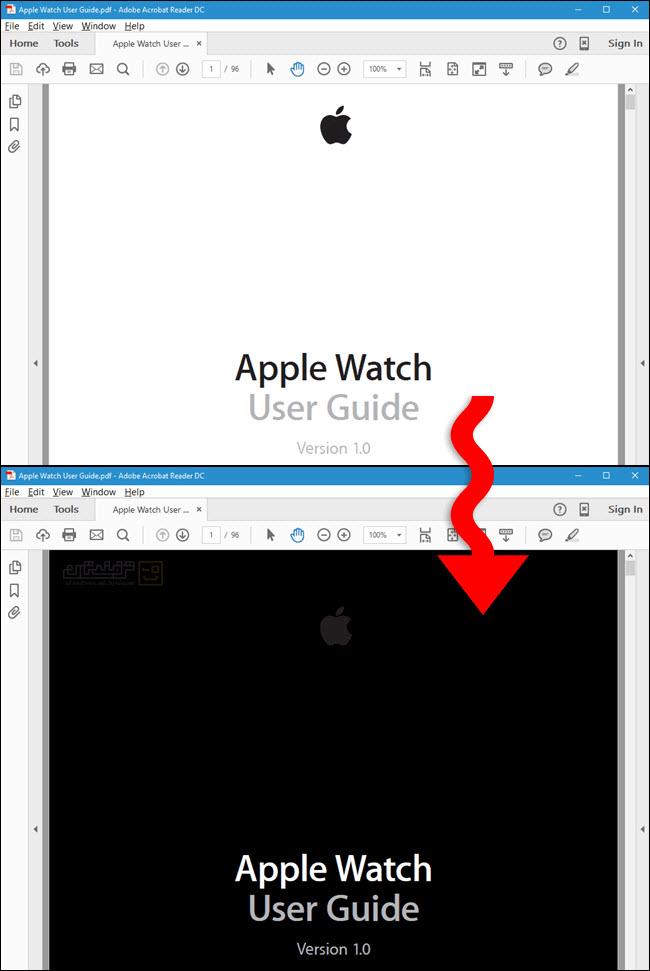 مطالعهی آسانتر فایلهای PDF در شب