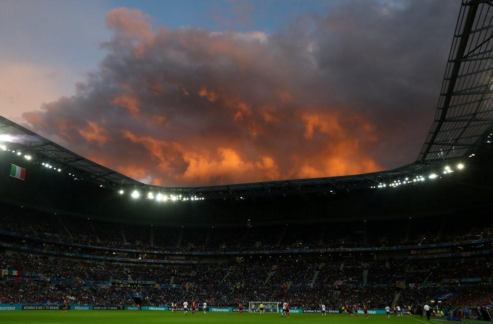 برتری ایتالیا مقابل بلژیک در پایان نیمه نخست + گزارش تصویری