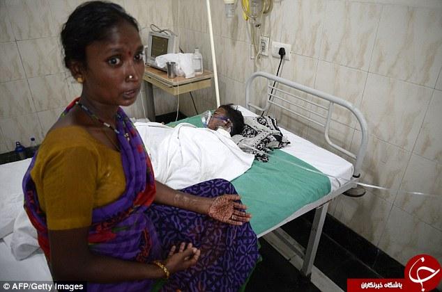 جدال پسربچۀ هندی با مرگ به خاطر یک آیین سنتی + تصاویر