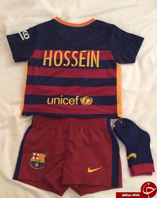 عکس/ نوزاد ایرانی که در باشگاه بارسلونا رکورد زد!