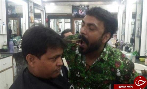 ابتکار یک آرایشگر برای کوتاه کردن مو + فیلم و عکس
