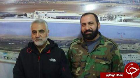 عکس یادگاری حاج قاسم با فرمانده شهید حزب الله + عکس