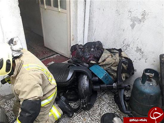 مرد جوان در آتش سوزی خیابان خاوارن سوخت+تصاویر