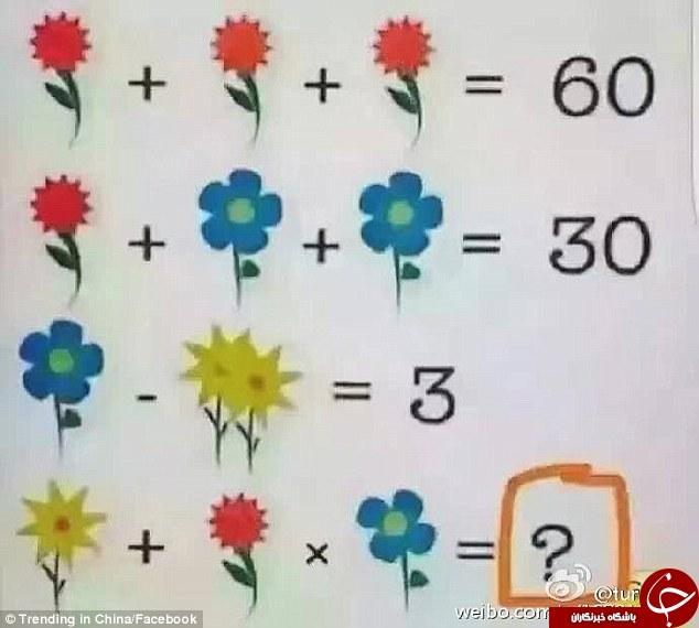 معادله ریاضی به ظاهر راحت که معلمان ریاضی نیز از حل آن عاجز ماندهاند+عکس