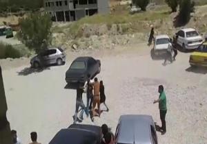 نزاع دانشجویان دانشگاه پیام نور با پرتاب سنگ!+ فیلم