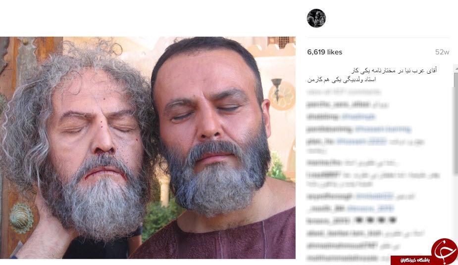 گریم های ماندنی فیلم های ایرانی در اینستاگرام عبدالله اسکندری +10 عکس