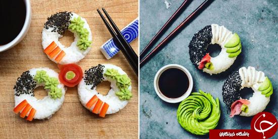 دونات سوشی  به بازار میاید + تصاویر