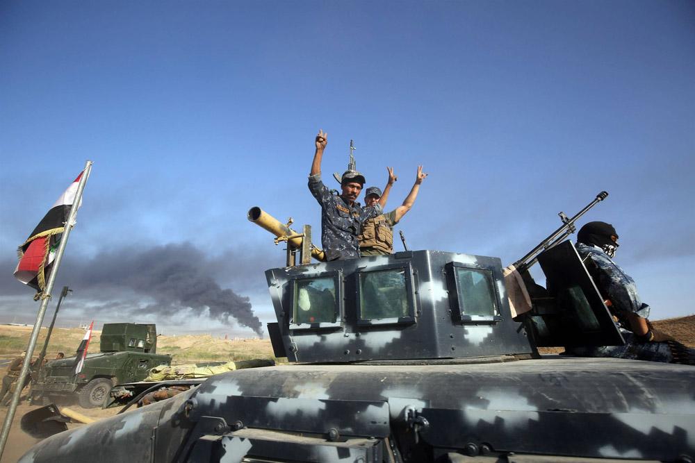 آزادسازی 4 کیلومتر مربع از منطقه اللهیب در فلوجه