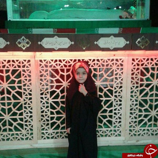 خواب دختر شهید مدافع حرم به واقعیت تبدیل شد + عکس
