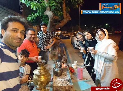 فوتبالیست مطرح ایرانی و خانواده در سفر آذربایجان