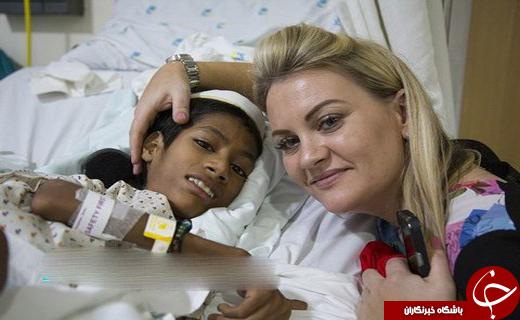 جراحی گردن ۱۸۰ درجهای یک پسر هندی +عکس