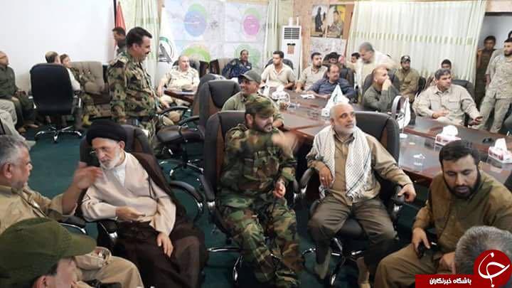 تصاویری از حضور سردار سلیمانی در اتاق عملیات بازپس گیری فلوجه+ تصاویر