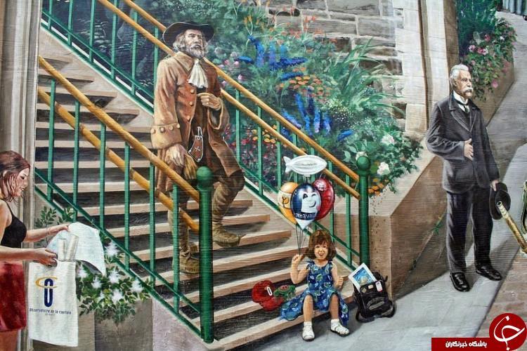 اولین نقاشی های دیواری کانادا+تصاویر