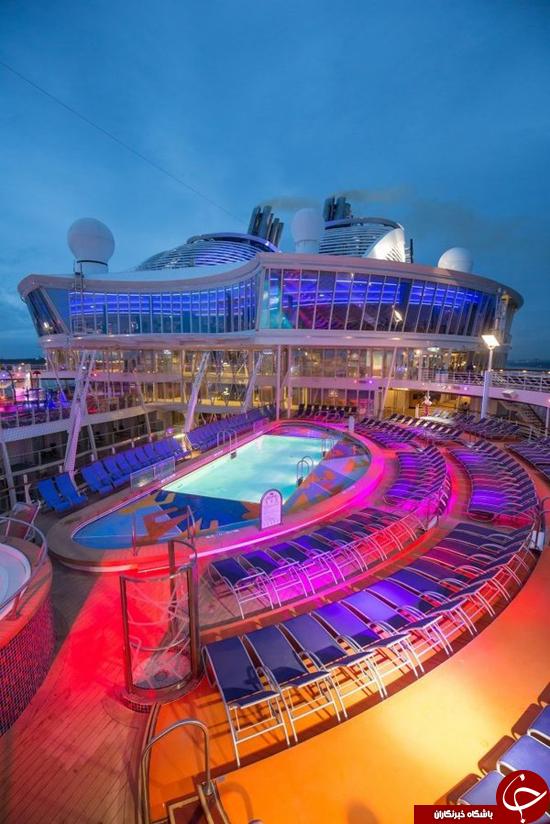 بزرگترین کشتی جهان برای خود شهری است + تصاویر