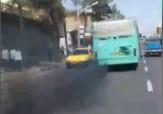 باشگاه خبرنگاران - هنرنمایی اتوبوس دودزا در شهرستان ساوه + فیلم