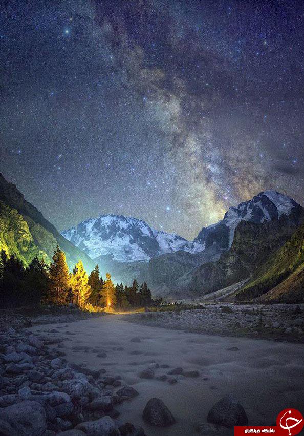 نگاهی به زیباترین تصاویر از کهکشان راه شیری