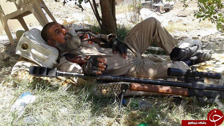 تک تیرانداز قاتل تکفیری ها + فلیم و عکس