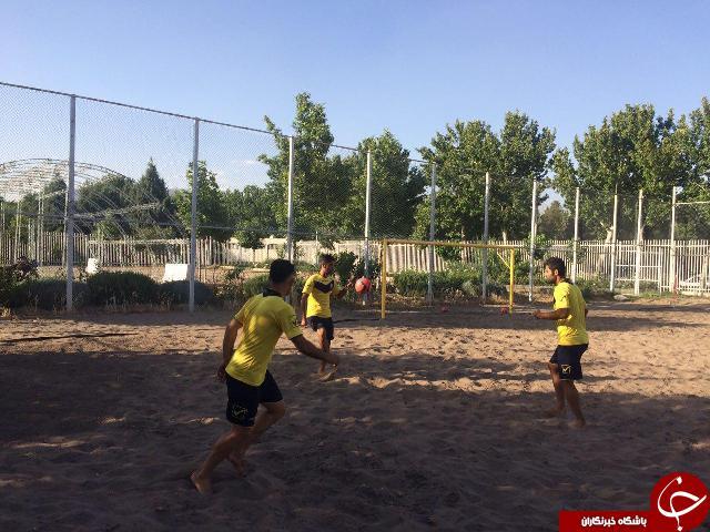 تمرینات تیم ملی فوتبال ساحلی در کمپ تیم های ملی