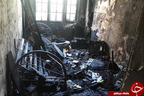 جزییات آتش سوزی در خیابان معیری/نجات دو بانوی میانسال از میان شعلههای آتش+تصاویر