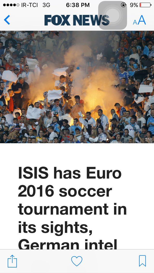 داعش در انديشه به خون كشيدن يورو ٢٠١٦