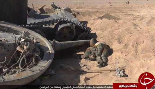 اقدام غیرانسانی داعش در انتشار تصاویر دلخراش اجساد سربازان سوری(تصاویر+18)