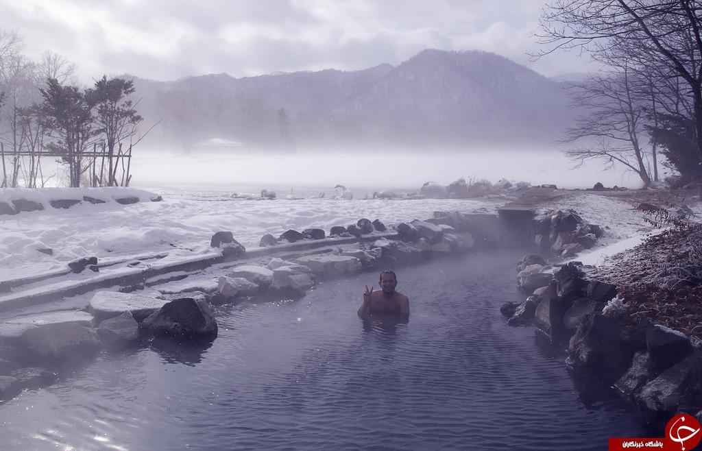 حمام گروهی عریان، راهکار ژاپن برای استفاده از منابع زمینگرمایی!+تصاویر