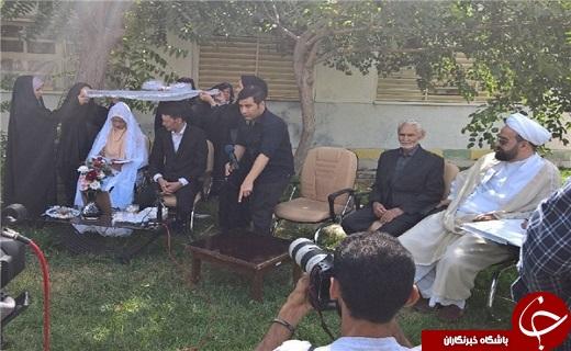 مراسم عقد یک محکوم به قصاص در زندان رجاییشهر برگزار شد