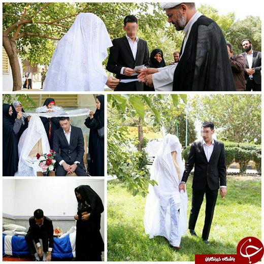 مراسم عقد یک محکوم به قصاص در زندان رجاییشهر برگزار شد+عکس