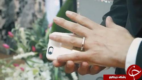 عجیبترین ازدواج جهان/ عقد یک مرد آمریکایی با آیفون در آمریکا!+ تصاویر