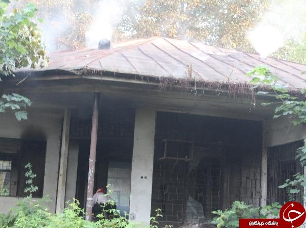 معتادان عامل آتشسوزی ساختمانی در چالوس+ تصاویر