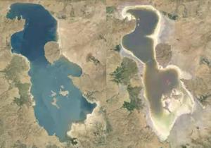 افزایش 52 سانتی متری تراز دریاچه ارومیه