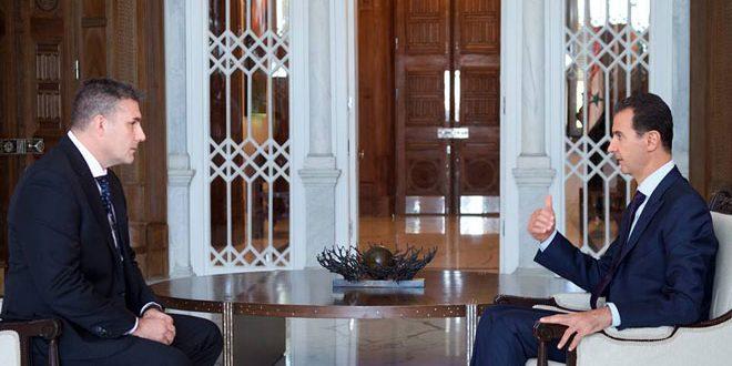 بشار اسد: مسئولان غربی، آنچه را که آمریکا برایشان دیکته می کند، می گویند