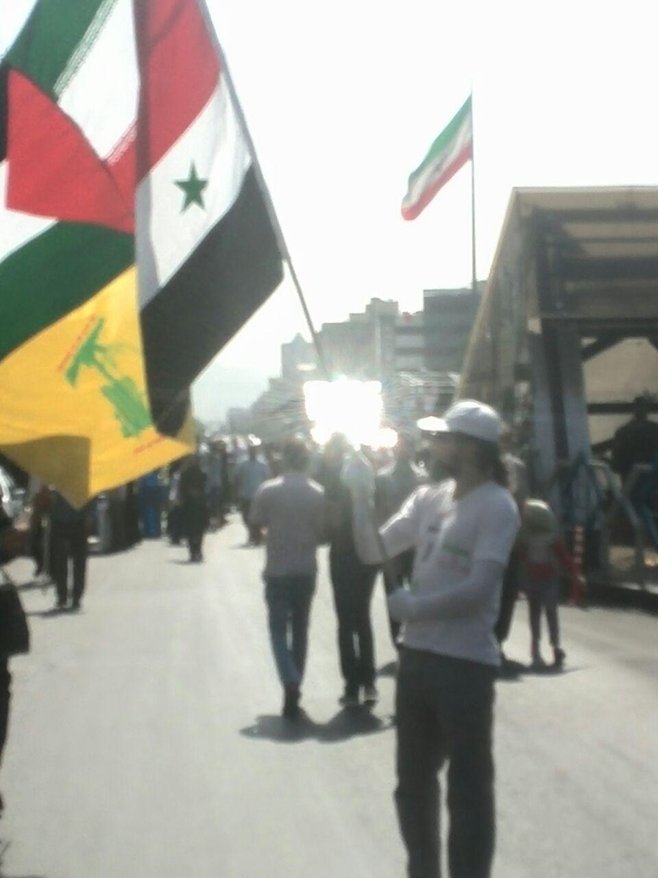 مراسم راهپیمایی روز قدس دقایقی قبل با حضور مردم آغاز شد+ تصویر
