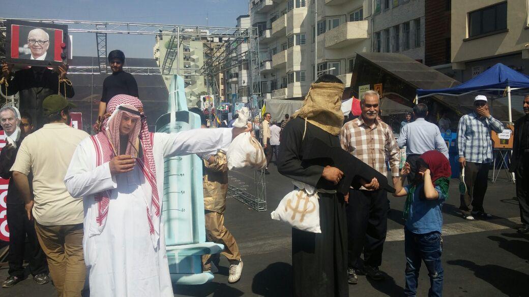 حضور وزیر خارجه عربستان و یک داعشی در خیابانهای تهران
