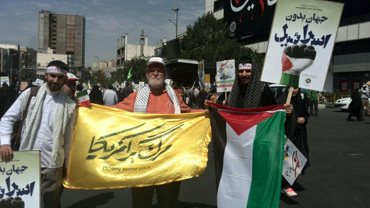 سلفی عزرائیل با نتانیاهو در روز قدس/همدلی مردم با سردار مقاومت + تصاویر