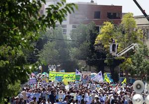 برپایی باشکوه راهپیمایی روز قدس در چهارمحال و بختیاری