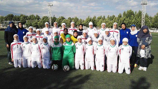 پایان تمرینات دختران نوجوان در تهران