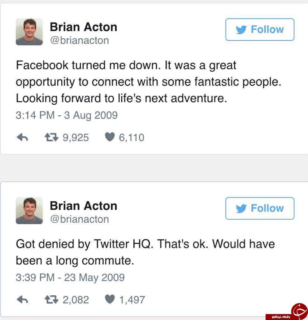 رد شدن سازندۀ واتساپ در آزمون فیسبوک