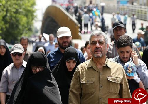 فرمانده سپاه و همسرش در روز قدس+عکس
