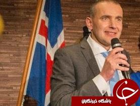 رئیس جمهور ایسلند تماشاگر ویژه دیدار ایسلند- فرانسه