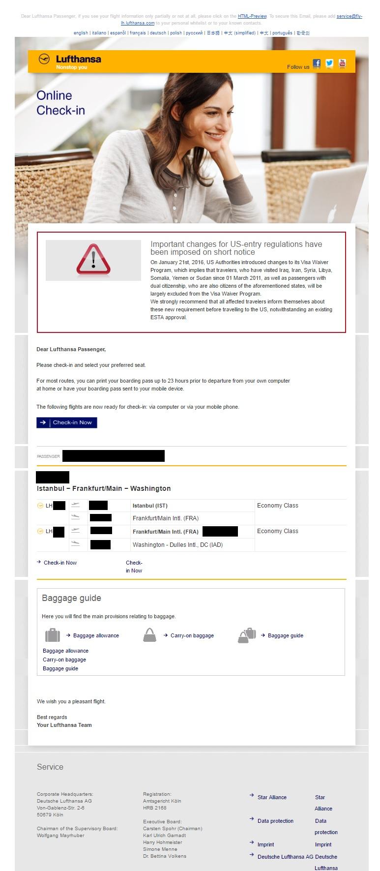 هشدار برای مسافر ایران! / وقتی آمریکاییها ایمیل تهدید آمیز می زنند!!