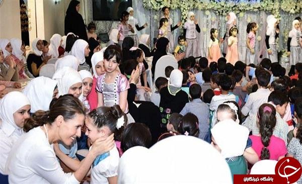 همسر بشار اسد شب قدر را در کجا سپری کرد؟ + تصاویر