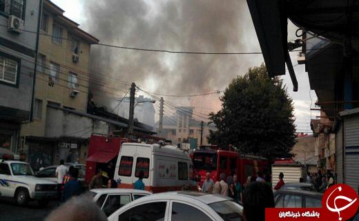 سریالی شدن آتش سوزی ها در رشت+ تصاویر
