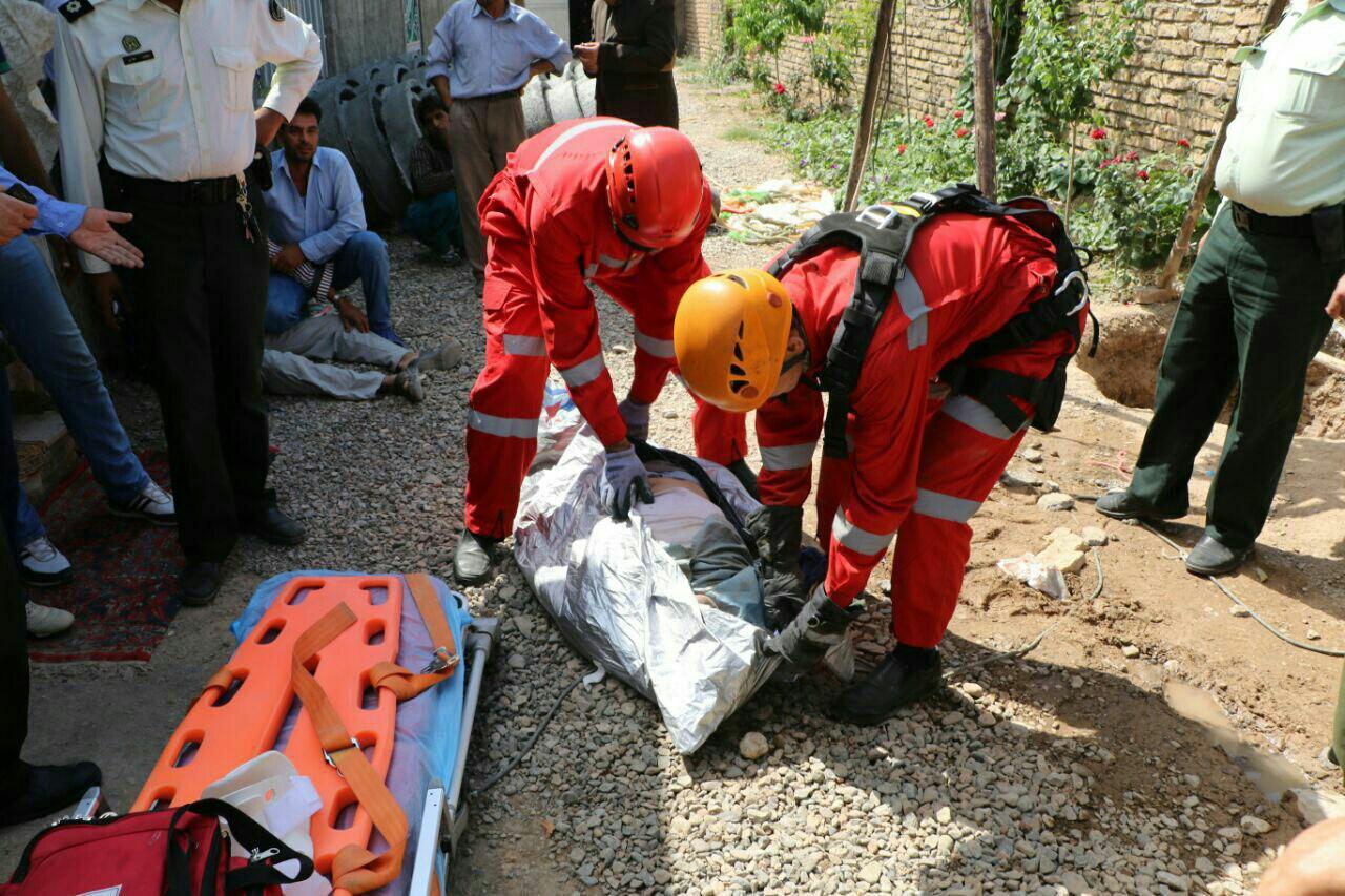 مرگ مقنی 50 ساله در عمق 4 متری چاه