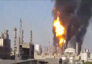 آتشسوزی مهیب در پتروشیمی بندرماهشهر + فیلم